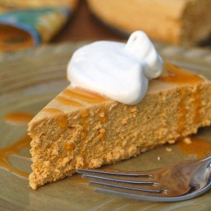 Slow Cooker Low Fat Pumpkin Cheesecake