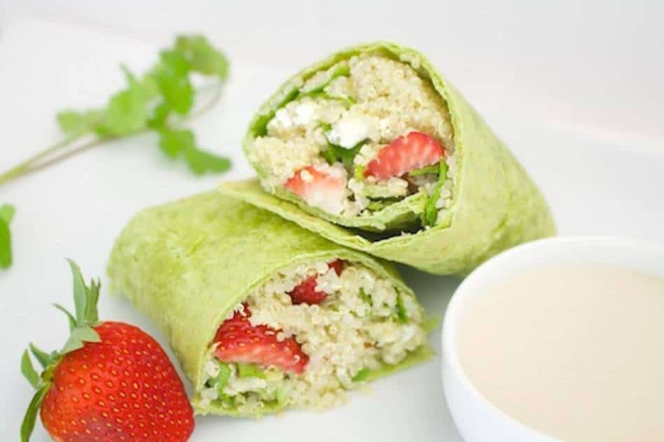 Strawberry Quinoa Salad Wraps